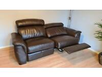 Forrest Furnishings 3 Seater Brown Electric Recliner Sofa