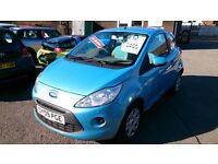 NEW SHAPE 2009 (09) FORD KA 1.3 STYLE 3 DOOR HATCH IN MET BLUE NEW MOT ONLY 67K WITH S/HISTORY CD +