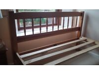 Pine Double Bed - disassembled with Mattress - in Lovely Condition