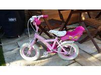 Apollo Girls Cupcake Bicycle - 12 inch including girls helmet