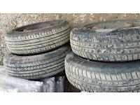 165/70-14 4 good tyres
