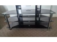 black glass tv stand up to 65 inch