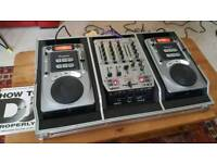 CDJ Decks + Mixer
