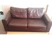 Leather Sofa's, table, wardrobe