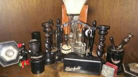 Ebony dressing table items for sale