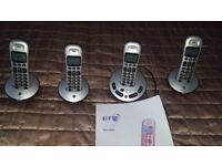bt freelance xt3500, multiple pack 4 with, answerphone. and instuctions.