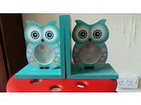 Owl book ends/picture frames