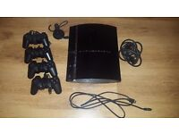 Playstation 3 with 22 games + 4 controllers - £115