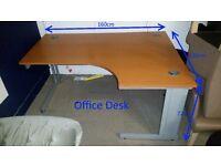Office Furniture - 2 Office Desks, 2 Under Desk Filing Cabinets, 4 Chairs