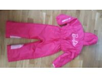 Girl's Barbie Snow Suit with matching Ski Hat. Age 5-6 years