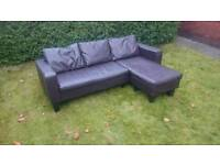 Leather sofa ( free delivery)