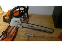 Stihl ms171c chainsaw- good working condition with extra tools