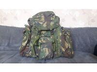 British Army Rucksack and Frame, Short back, DPM
