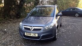 2006 Vauxhall Zafira 1.6 Petrol. Grey