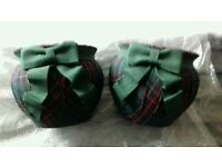 New tartan plant pots pair and matching multi photoframe m&s