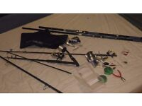 Joblot of Fishing Poles, sinkers, accessories.. Mostly New 80ono
