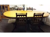 Dining table and 6 x Chairs + sideboard