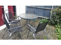 FREE Garden Table Umbrella and 4 Chairs