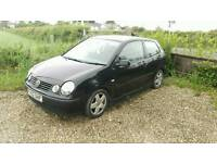 2002 VW Polo 1.2 SE Black Ideal First Car Low Insurance Tax PX