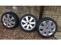 ford fiesta alloy wheels x3 (195/45/16)