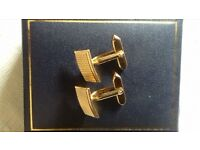 MENS gold plated CUFF LINKS
