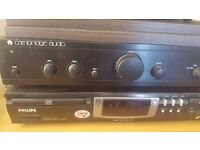 Cambridge audio amp and philips cd player with sony speakers