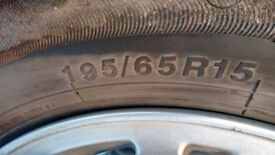 Wanted 4 tyres for ford focus in good cond to fit alloys 195/65 R15
