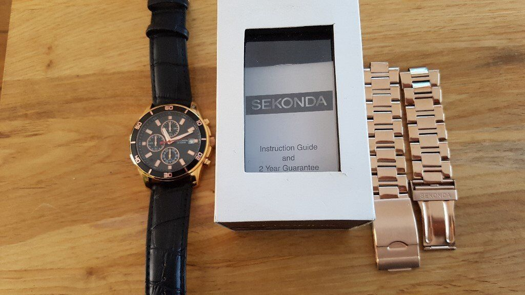 7fa52f015a69 Mens Sekonda NightFall Chronograph Watch Rose Gold Case 1051 ...