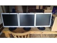 HP L1706 LCD Monitor (VGA) with leads