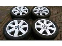 GENUINE LAND ROVER RANGE ROVER VOGUE L322 20 INCH ALLOY WHEELS WINTER TYRES 5X120 VW T5 T6