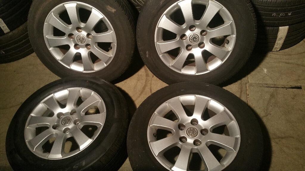 Vauxhall Genuine 15 alloy wheels + 4 x tyres 195 65 15