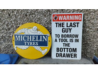 joblot of seven signs garage etc see all images