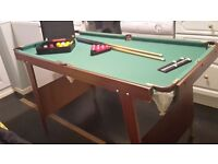Snooker / Pool Table suitable for child table 4half foot x 2half foot. In very good condition