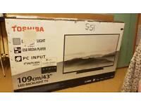 """Toshiba 43"""" led tv"""