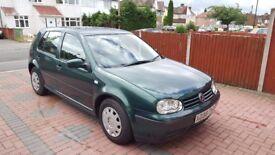 Volkswagen Golf 1.6, Very low mileage, MOT, Service History