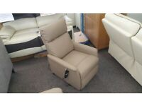 CareCo Napoli Pebble PU leather Single Motor Riser Recliner Chair Can Deliver