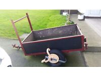 5 x 3 Trailer with wheel clamp