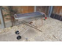 Commercial Barbecue BBQ Grill Folding with Wheels