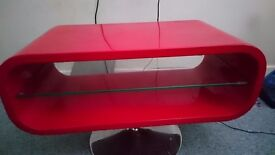 Red oval tv unit