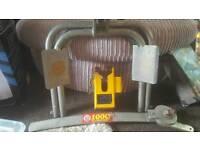 Bulldog caravan stabiliser and lock
