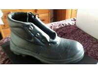 Black steel capped Boots (size 10)