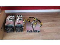 2 Antminer S9's + 2 APW3++ PSU's