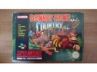 Donkey Kong Country Super Nintendo Game - Boxed Rare Collectors Item