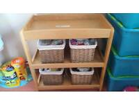 Mamas and Papas changing table with 4 baskets