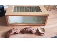 Small starter vivarium 18 inches with bowl and hides