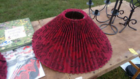 red and black lamp shades