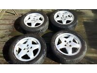 """4 excellent condition 14"""" wheels hardly used look brand new"""