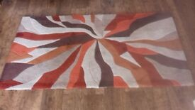 Terracotta rugs and throws