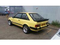 Ford escort xr3 1982 rare original yellow