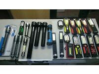 JOB LOT OF LED HAND HELD BATTERY POWERED TORCHES